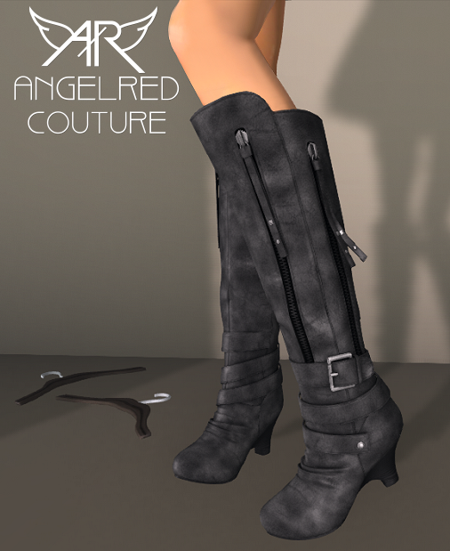 AngelRED - FROST Mesh Boots