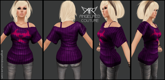 AngelRED - Mesh Hanah Top [Example Display 2]