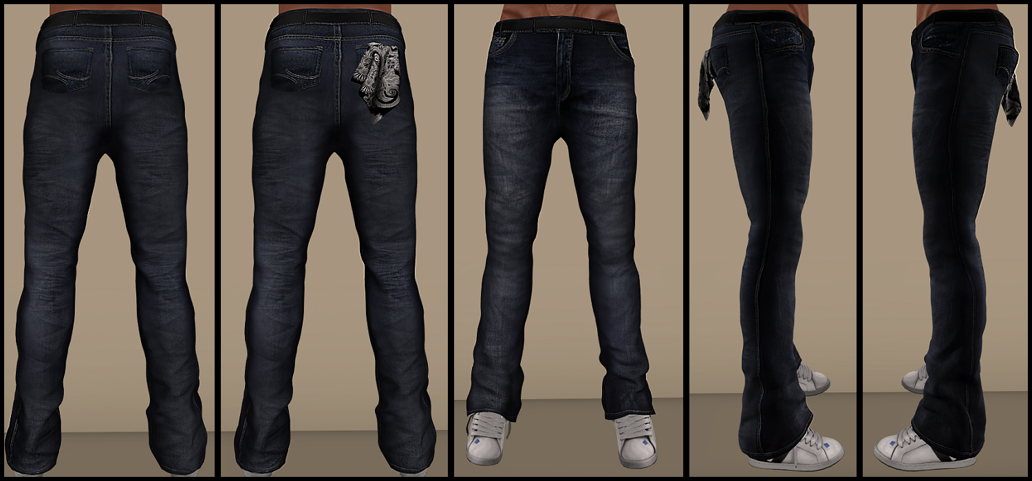 NEW!! Caster Inc – FULL PERM Mens Mesh Diablo Jeans