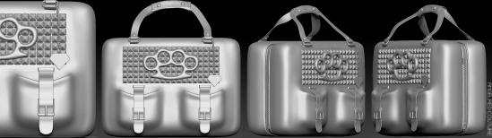 Scene Queen Handbag 360 Mesh Preview