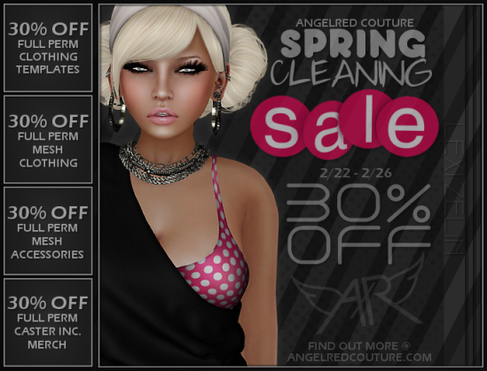 AngelRED Couture SpringCleanSale 2014 Flyer