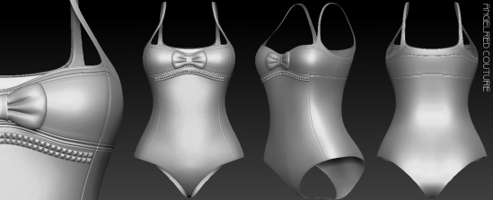 TonicSwimSuit 360 Mesh Preview